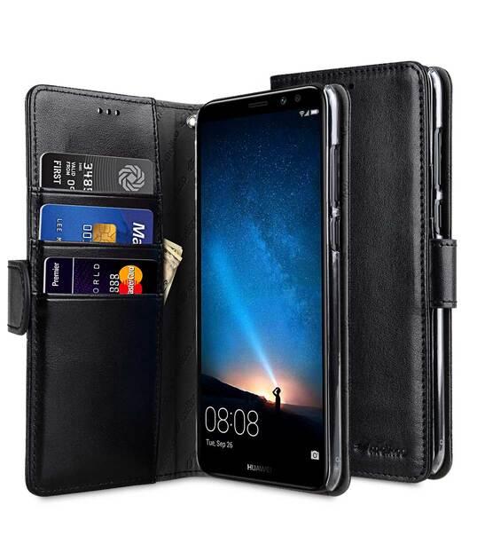 vasta selezione di 197cb b498b PU Leather Wallet Book Clear Type Case for Huawei Mate 10 Lite - (Black)