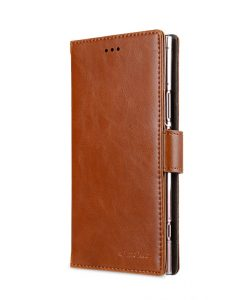 Melkco PU Leather Wallet Book Clear Type Case for Sony Xperia XZ1 - (Brown)