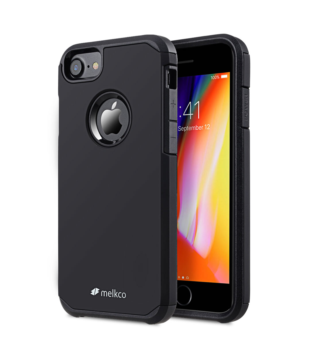 Melkco Urban Guard Case for Apple iPhone 8 - (Black)