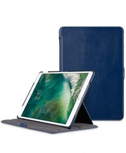 "Premium Leather Slim Cut Case for Apple iPad Pro 10.5"" - (Dark Blue LC)"