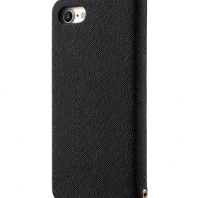 Melkco Fashion Cocktail Series slim Filp Case for Apple iPhone 7 / 8 (4.7') – (Black Cross pattern)