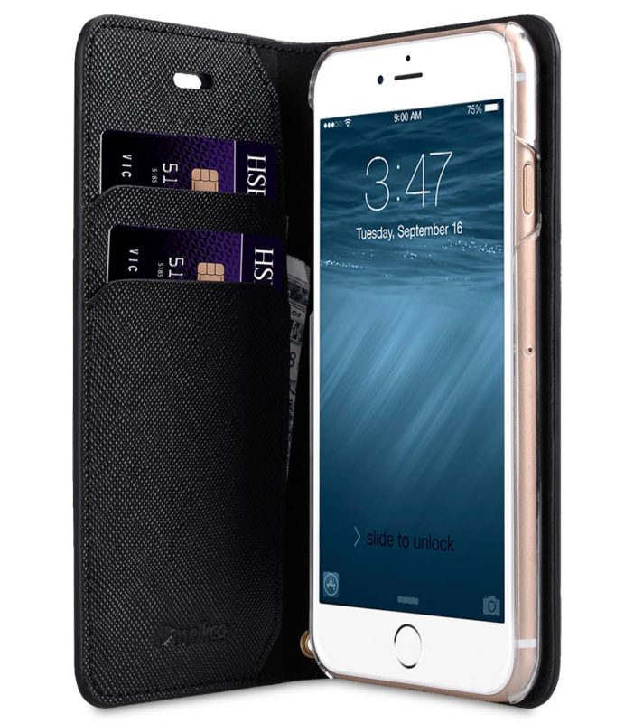 Melkco Fashion Cocktail Series slim Filp Case for Apple iPhone 7 / 8 (4.7') - (Black Cross pattern)