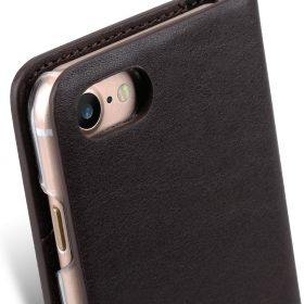 Melkco Fashion Cocktail Series Slim Flip Premium Leather Case for Apple iPhone 7 / 8 (4.7'') – (Italian Coffee)