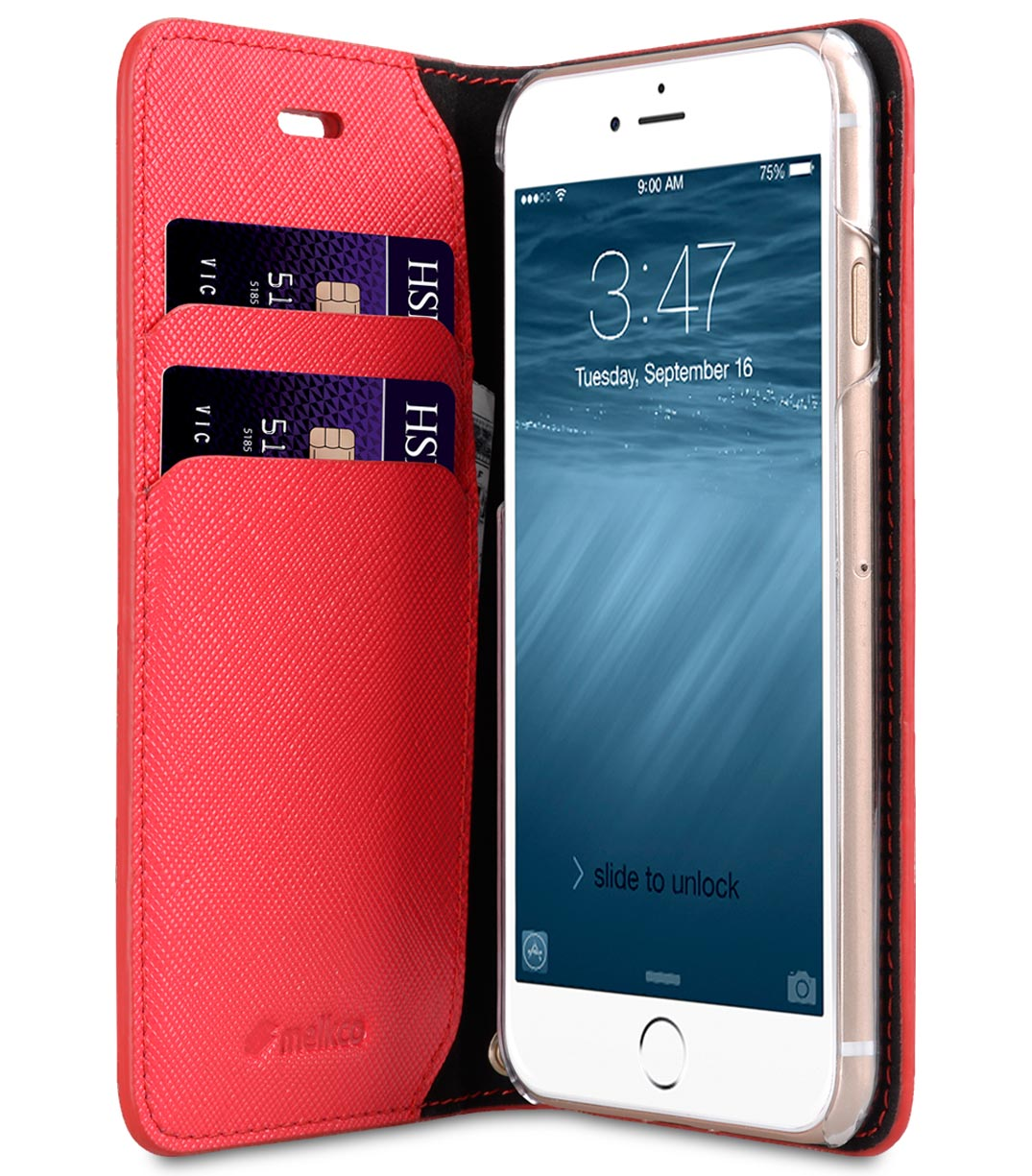 Melkco Fashion Cocktail Series slim Filp Case for Apple iPhone 7 / 8 (4.7') - (Fluorescent Red)