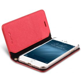 Melkco Fashion Cocktail Series slim Filp Case for Apple iPhone 7 / 8 (4.7') – (Fluorescent Red)