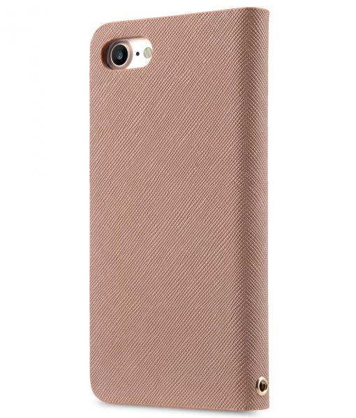 Melkco Fashion Cocktail Series slim Filp Case for Apple iPhone 7 / 8 (4.7') - Beige Cross pattern