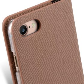 Melkco Fashion Cocktail Series slim Filp Case for Apple iPhone 7 / 8 (4.7') – Beige Cross pattern