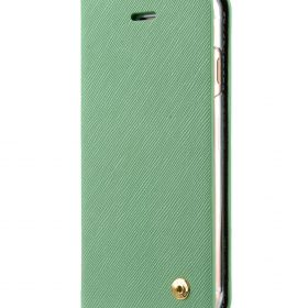 Melkco Fashion Cocktail Series slim Filp Case for Apple iPhone 7 / 8 (4.7') – (Light Green Cross pattern)