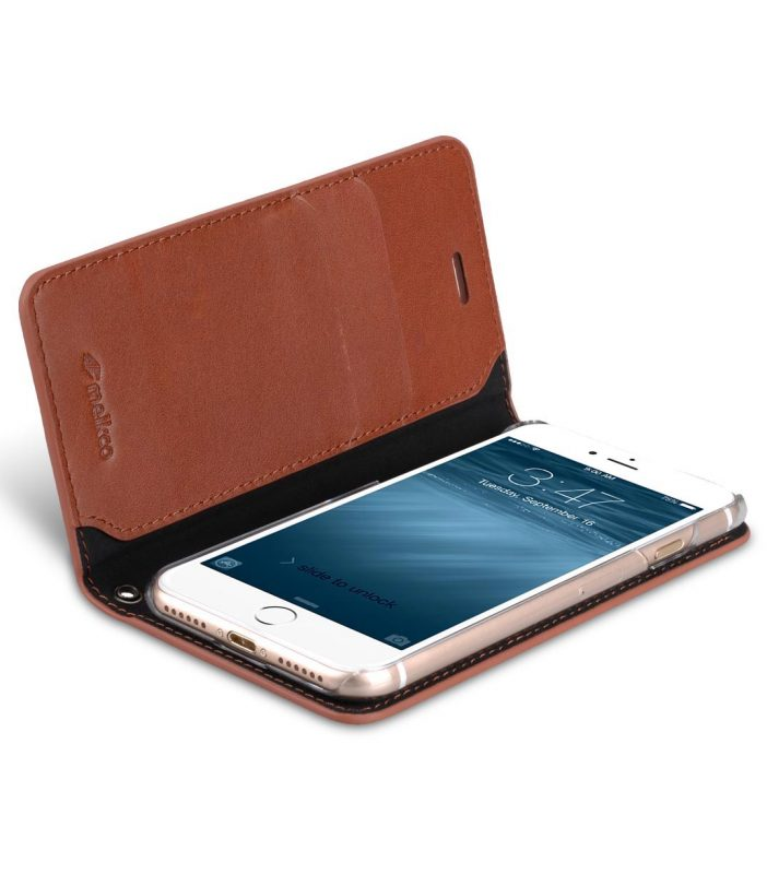 Melkco Fashion Cocktail Series slim Filp Case for Apple iPhone 7 / 8 - (4.7') (Italian Orange Brown)