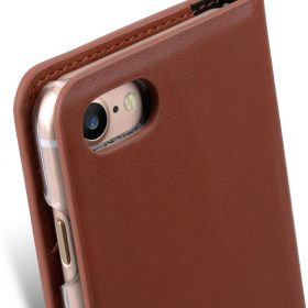 Melkco Fashion Cocktail Series slim Filp Case for Apple iPhone 7 / 8 – (4.7') (Italian Orange Brown)