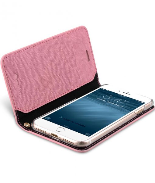 Melkco Fashion Cocktail Series slim Filp Case for Apple iPhone 7 / 8 (4.7') - (Pink Cross pattern)