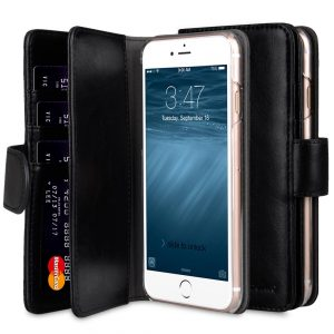 """Melkco PU Leather Case for Apple iPhone 7 / 8 (4.7"""") - Wallet Plus Book Type (Black)"""