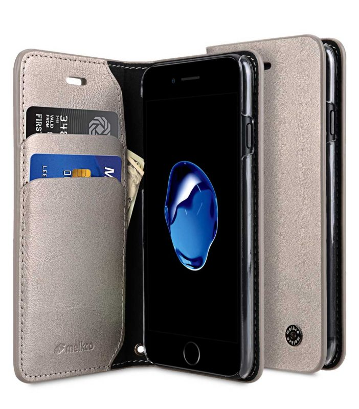 Melkco Fashion Cocktail Series slim Filp Case for Apple iPhone 7 / 8 (4.7') - (Gold)