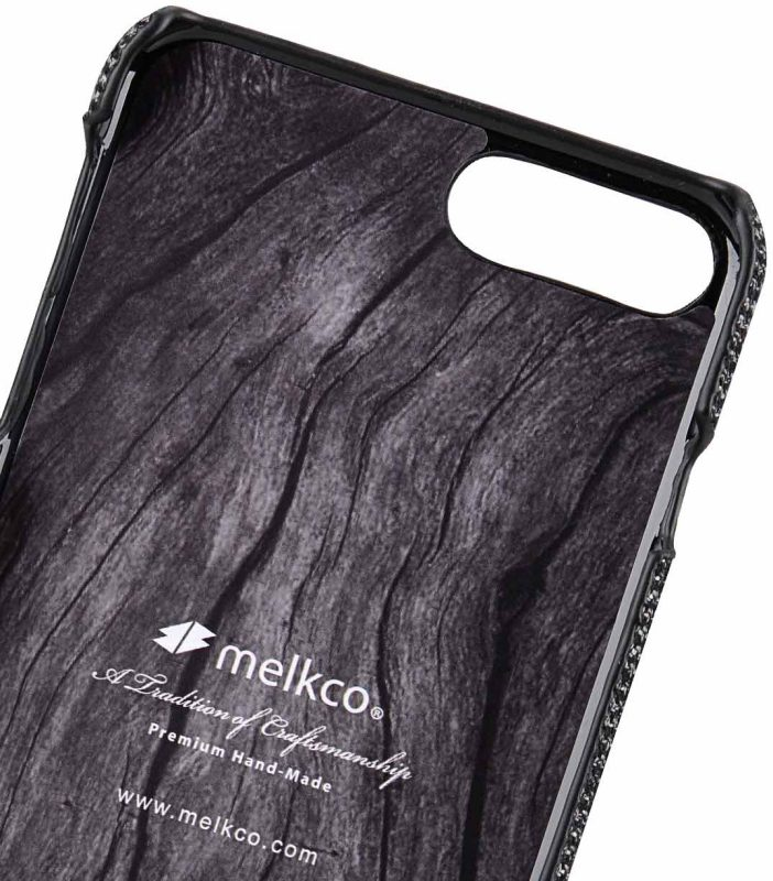 "Melkco Holmes Series Fine Grid Genuine Leather Dual Card slot with stand Case for Apple iPhone 7 / 8 Plus (5.5"") - (Black)"