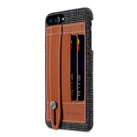 "Melkco Holmes Series Fine Grid Genuine Leather Dual Card slot with stand Case for Apple iPhone 7 / 8 Plus (5.5"") – (Brown)"