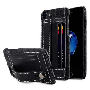 "Melkco Holmes Series Heri Genuine Leather Dual Card slot with stand Case for Apple iPhone 7 / 8 (4.7"") - (Black)"