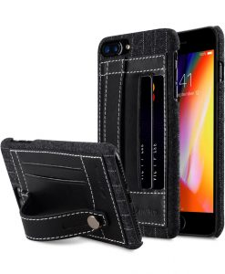 "Melkco Holmes Series Heri Genuine Leather Dual Card slot with stand Case for Apple iPhone 7 / 8 Plus (5.5"") - (Black)"