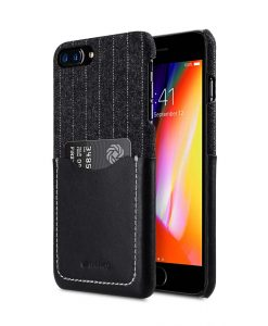 "Melkco Holmes Series Heri Genuine Leather Snap Cover with Card slot Case for Apple iPhone 7 / 8 Plus (5.5"") - (Black)"