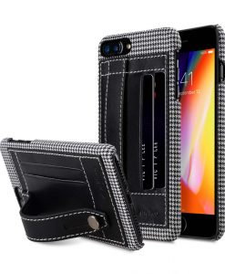 "Melkco Holmes Series Tobacco Genuine Leather Dual Card slot with stand Case for Apple iPhone 7 / 8 Plus (5.5"") - (Black)"