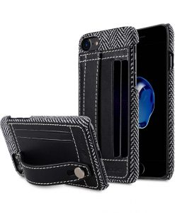 "Melkco Holmes Series Venis Genuine Leather Dual Card slot with stand Case for Apple iPhone 7 / 8 (4.7"") - (Black)"
