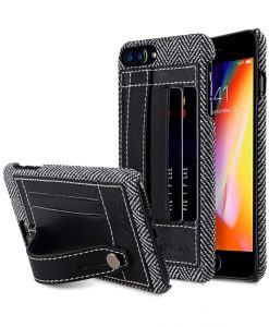 "Melkco Holmes Series Venis Genuine Leather Dual Card slot with stand Case for Apple iPhone 7 / 8 Plus (5.5"") - (Black)"