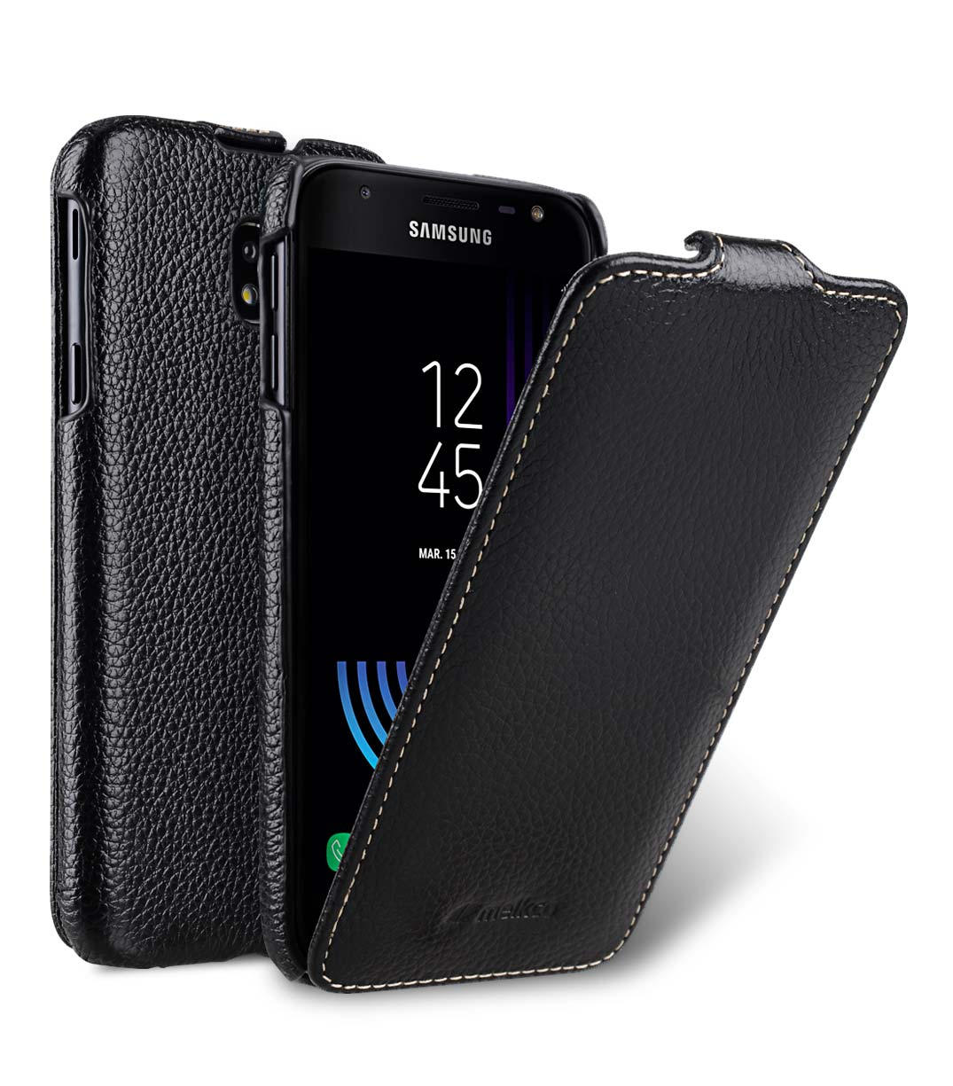 watch f92eb e640e Premium Leather Case for Samsung Galaxy J3 (2017) - Jacka Type (Black LC)