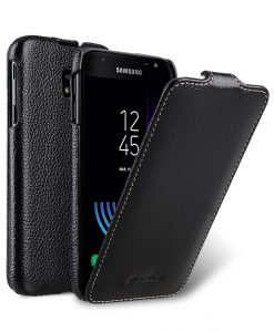 Melkco Premium Leather Case for Samsung Galaxy J7 (2017) - Jacka Type (Black LC)