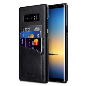 Melkco PU Leather Triple Card Slots Back Cover Case for Samsung Galaxy Note 8 - (Black)