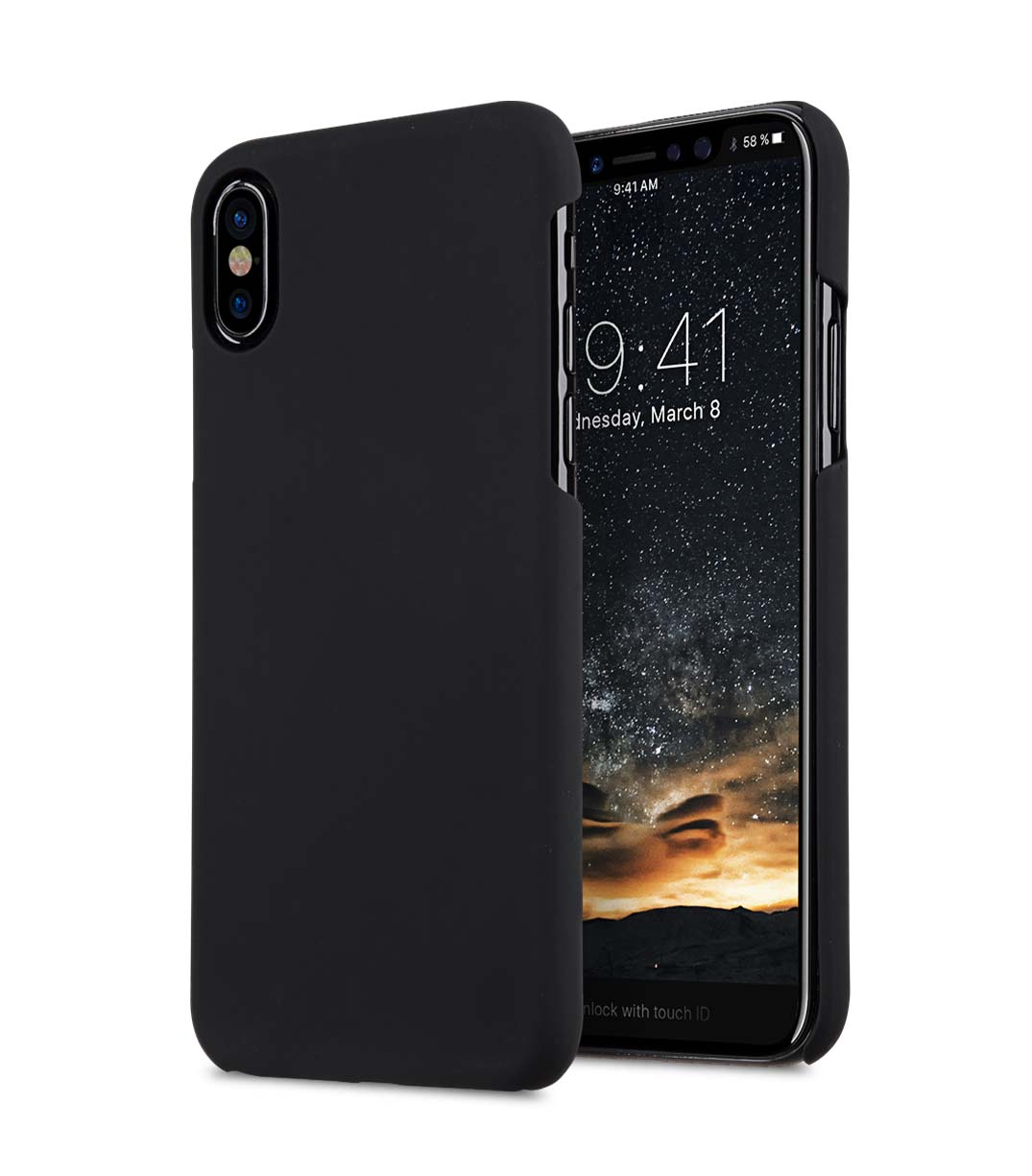 Melkco Rubberized PC Cover for Apple iPhone X - (Black)