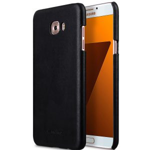 Premium Leather Snap Cover for Samsung Galaxy C7 Pro