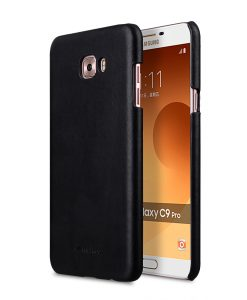 Melkco Premium Leather Snap Cover for Samsung Galaxy C9 Pro - ( Vintage Black )