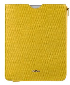 Melkco Fashion Python Skin Series leather pouch for iPad Air 2 (Yellow)