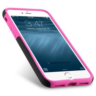 "Melkco Kubalt Double Layer Case for Apple iPhone 7 / 8 (4.7"") – Black/Pink"