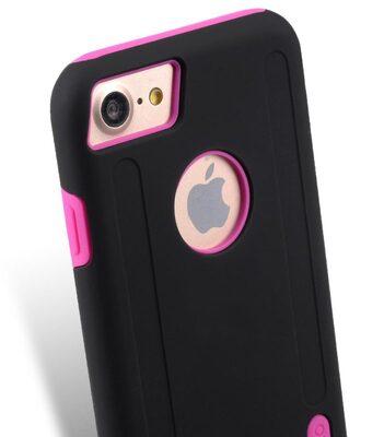 "Melkco Kubalt Double Layer Case for Apple iPhone 7 / 8 (4.7"") - Black/Pink"