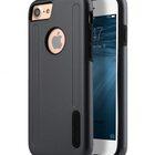 """Melkco Kubalt Double Layer Case for Apple iPhone 7 / 8 (4.7"""") – Grey/Black"""