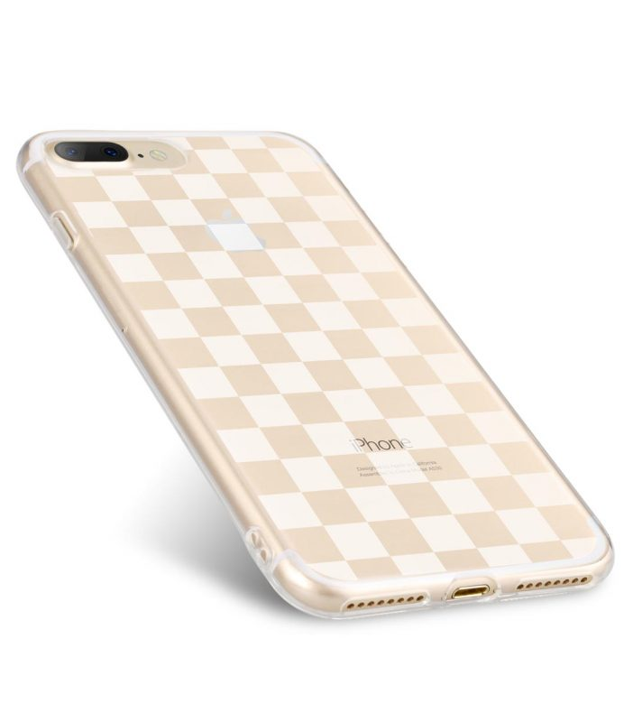 Melkco Nation Series Check Card Pattern TPU Case for Apple iPhone 7 / 8 Plus - (Transprent)