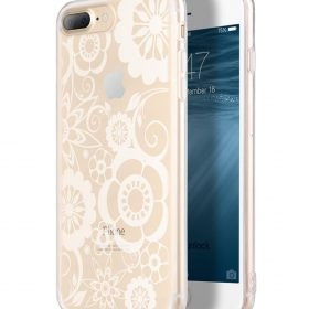 Melkco Nation Series Flower Pattern TPU Case for Apple iPhone 7 / 8 Plus – (Transprent)