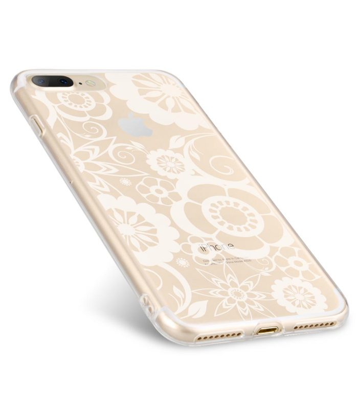 Melkco Nation Series Flower Pattern TPU Case for Apple iPhone 7 / 8 Plus - (Transprent)