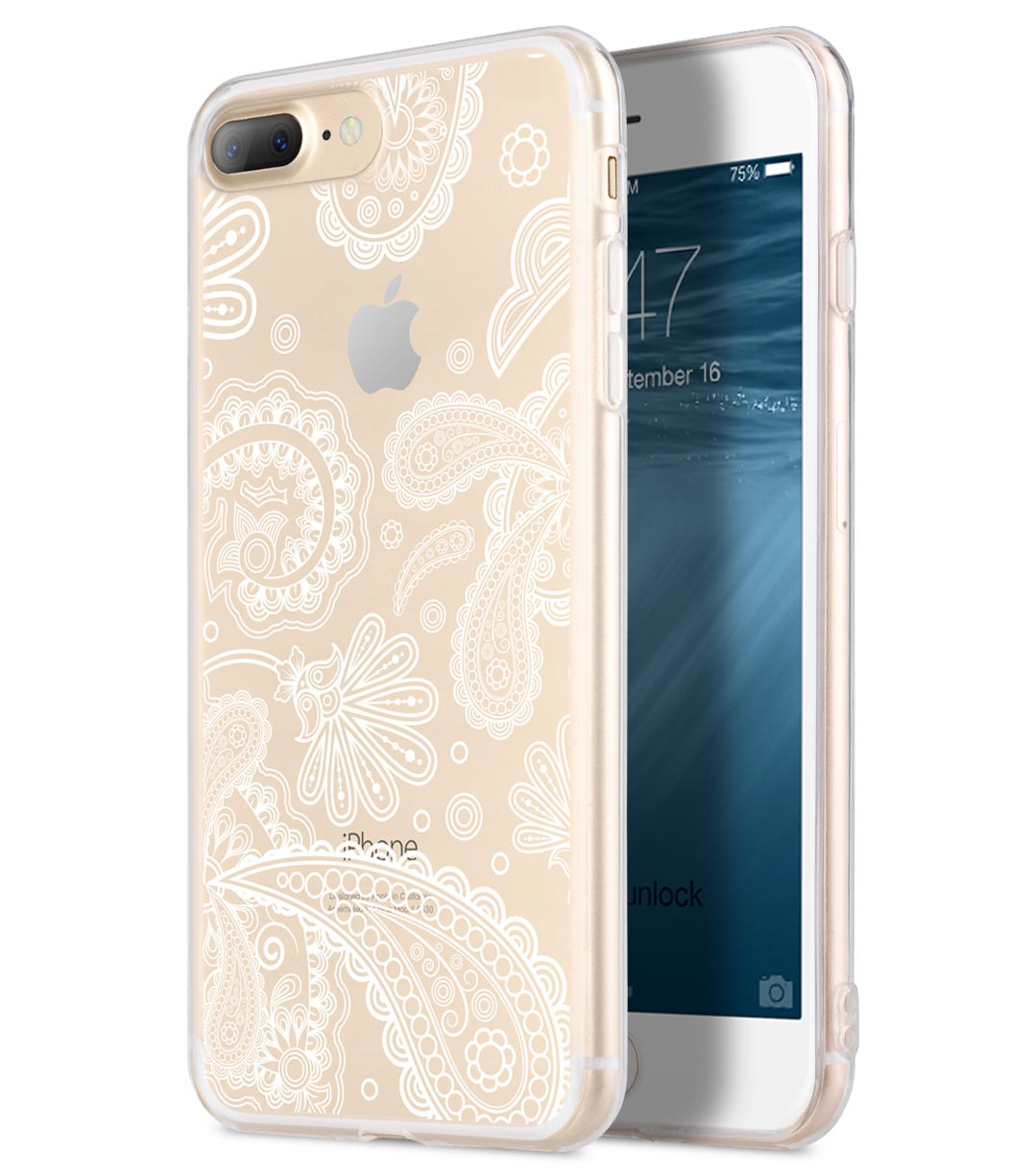 Melkco Nation Series Paisley Pattern TPU Case for Apple iPhone 7 / 8 Plus - (Transprent)