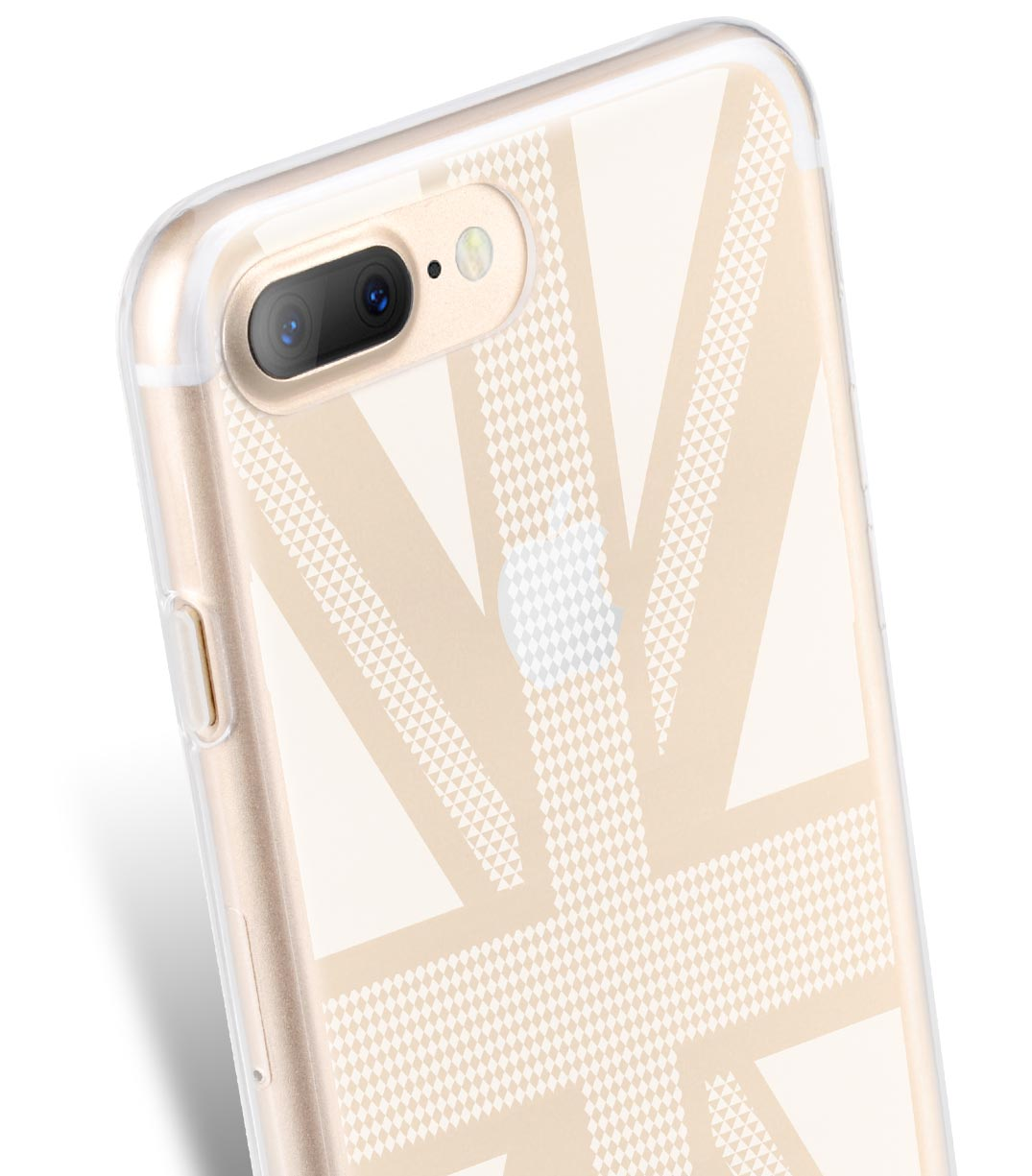 Melkco Nation Series Union Jack Pattern TPU Case for Apple iPhone 7 / 8 Plus - (Transprent)