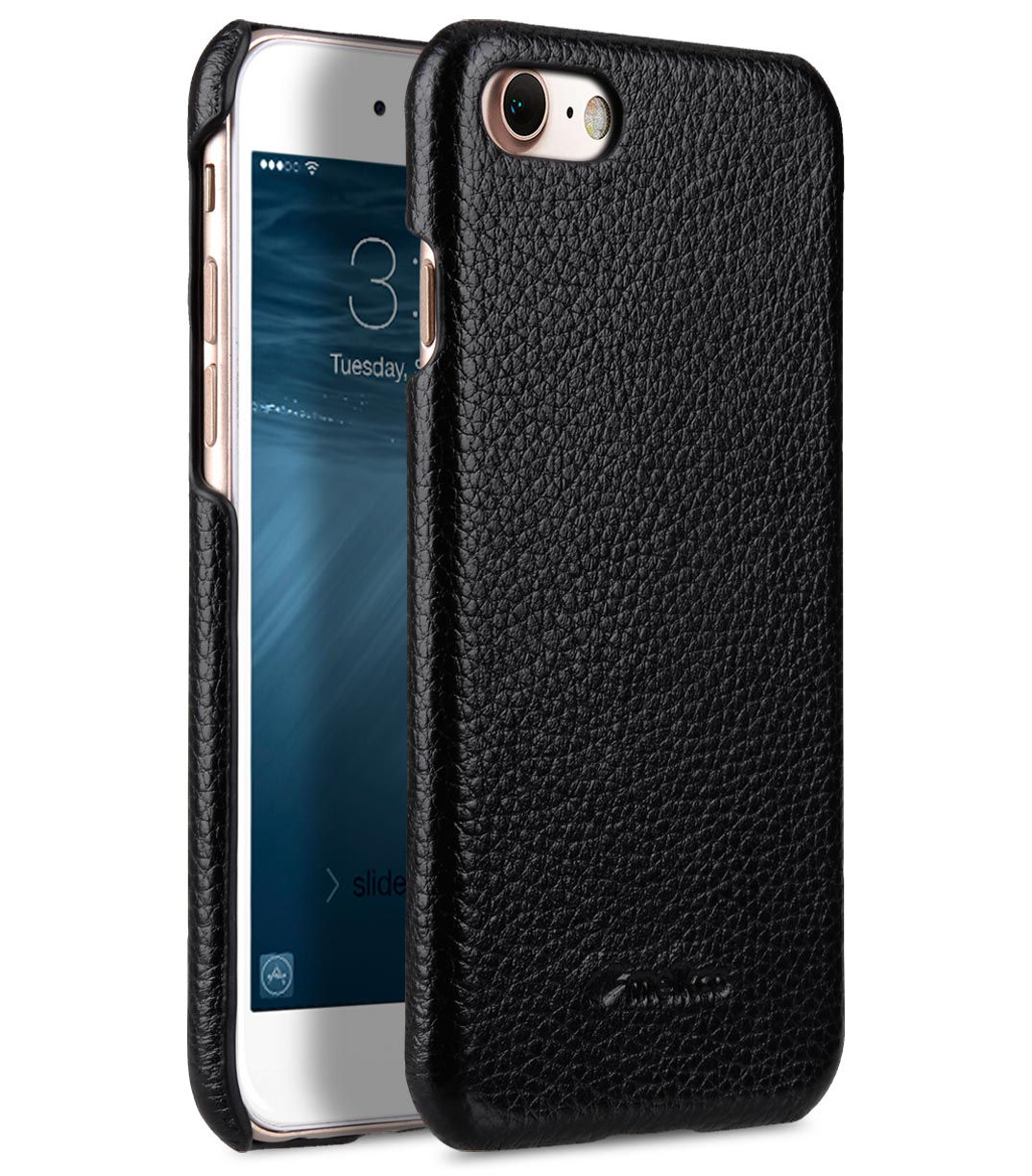 "Melkco Premium Leather Snap Cover for Apple iPhone 7 / 8 (4.7"")- Black LC"