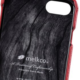 "Melkco Premium Leather Snap Cover for Apple iPhone 7 / 8 (4.7"")- Red LC"