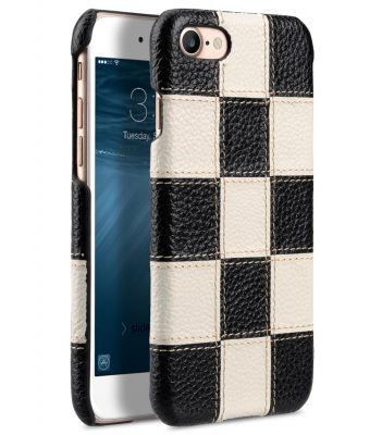 "Melkco Patchwork Series Premium Leather Snap Cover for Apple iPhone 7 / 8 (4.7"") - Black LC / White LC"