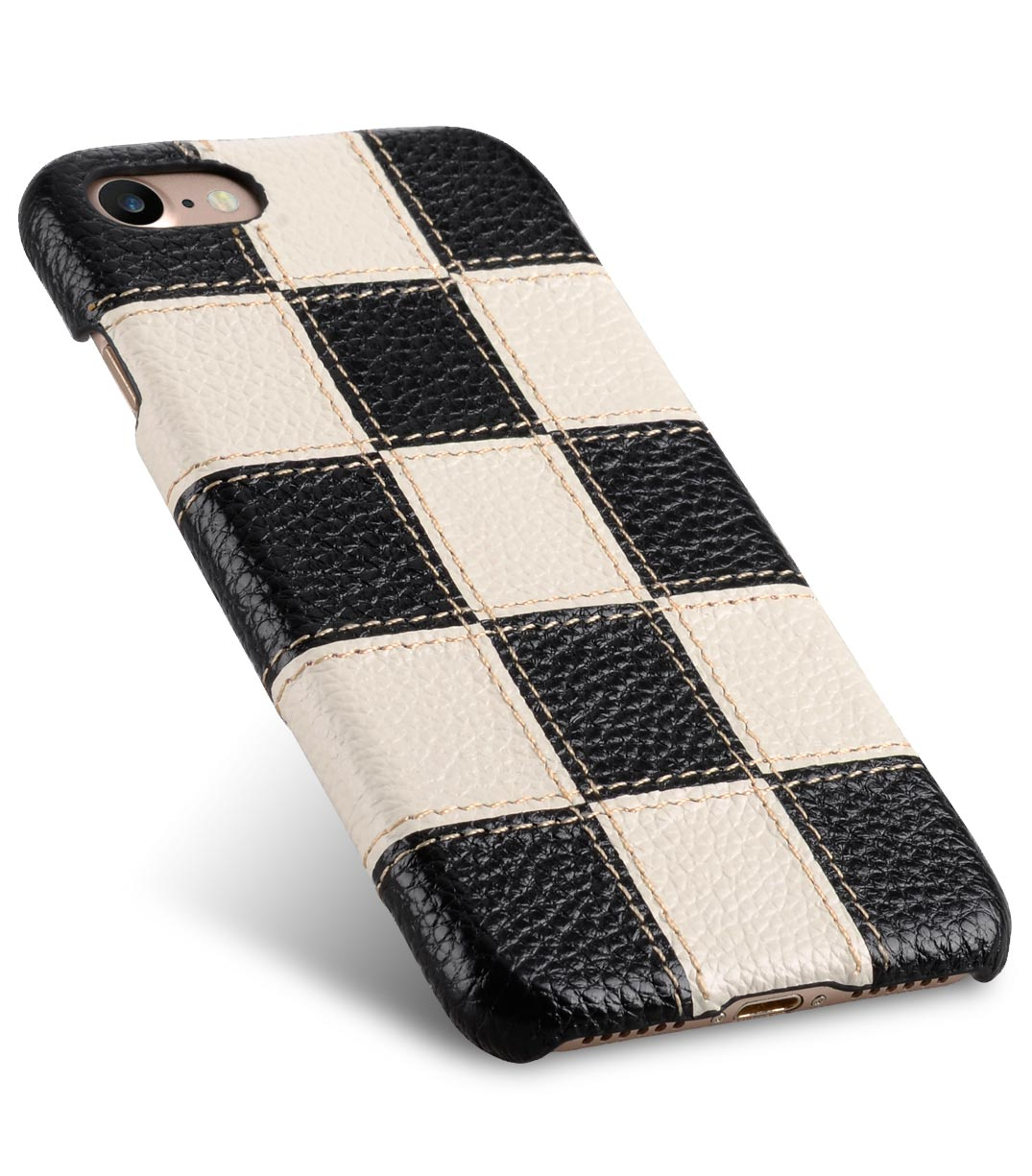 """Melkco Patchwork Series Premium Leather Snap Cover for Apple iPhone 7 / 8 (4.7"""") - Black LC / White LC"""