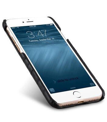 "Melkco Mini PU Leather Snap Cover for Apple iPhone 7 / 8 (4.7"") - (Black Crocodile Pattern PU)"