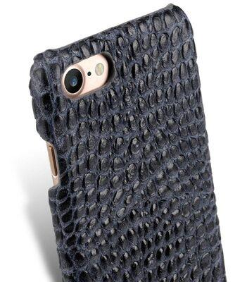 "Melkco Mini PU Leather Snap Cover for Apple iPhone 7 / 8 (4.7"") (Dark Grey Crocodile Pattern PU)"