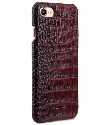 "Melkco Mini PU Leather Snap Cover for Apple iPhone 7 / 8 (4.7"") - (Dark Red Crocodile Pattern PU)"
