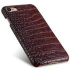 "Melkco Mini PU Leather Snap Cover for Apple iPhone 7 / 8 (4.7"") – (Dark Red Crocodile Pattern PU)"