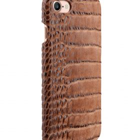 "Melkco Mini PU Leather Snap Cover for Apple iPhone 7 / 8 (4.7"") – (Light Brown Crocodile Pattern PU)"