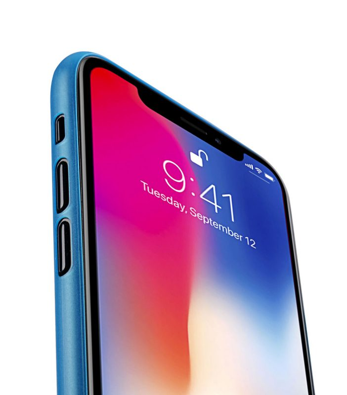 Melkco Air PP Case for Apple iPhone X - (Transparent Blue)